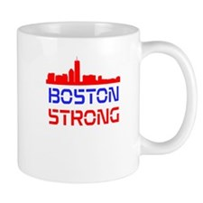 Boston Strong Skyline Red White and Blue Mug