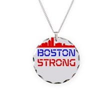 Boston Strong Skyline Red White and Blue Necklace