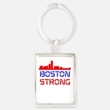 Boston Strong Skyline Red White and Blue Keychains