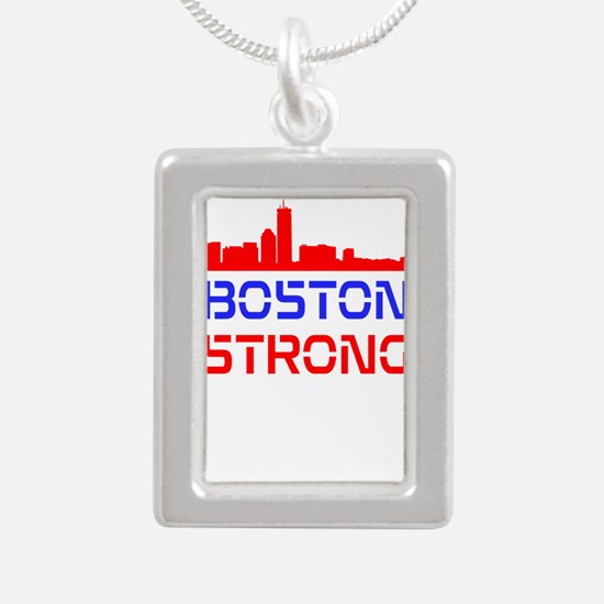 Boston Strong Skyline Red White and Blue Necklaces