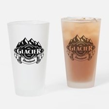 Glacier Mountain Emblem Drinking Glass