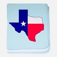 Texas Flag Map baby blanket