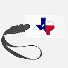 Texas Flag Map Luggage Tag