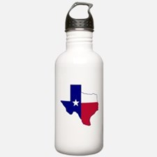 Texas Flag Map Water Bottle