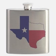Texas Flag Map Flask