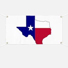 Texas Flag Map Banner