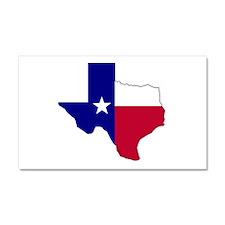 Texas Flag Map Car Magnet 20 x 12
