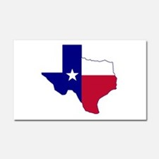 Texas Flag Map Car Magnet 20 x 12