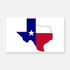 Texas Flag Map Rectangle Car Magnet