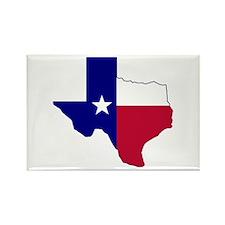 Texas Flag Map Rectangle Magnet