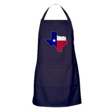 Texas Flag Map Apron (dark)