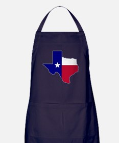 Texas Flag Map Apron (dark)