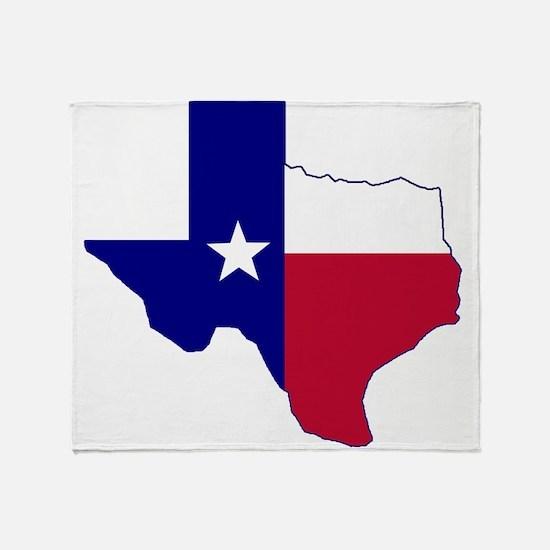 Texas Flag Map Throw Blanket