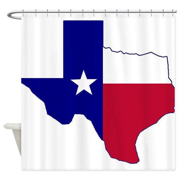 Texas Flag Map Shower Curtain By Texasheritage
