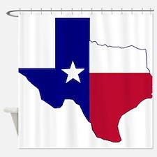 Texas Flag Map Shower Curtain