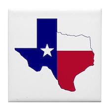 Texas Flag Map Tile Coaster