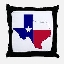 Texas Flag Map Throw Pillow