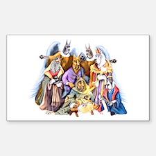 Great Dane Nativity Rectangle Decal