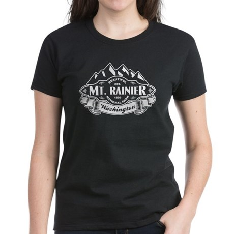 Mt. Rainier Mountain Emblem Women's Dark T-Shirt
