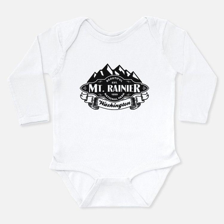 Mt. Rainier Mountain Emblem Long Sleeve Infant Bod