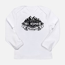 Mt. Rainier Mountain Emblem Long Sleeve Infant T-S