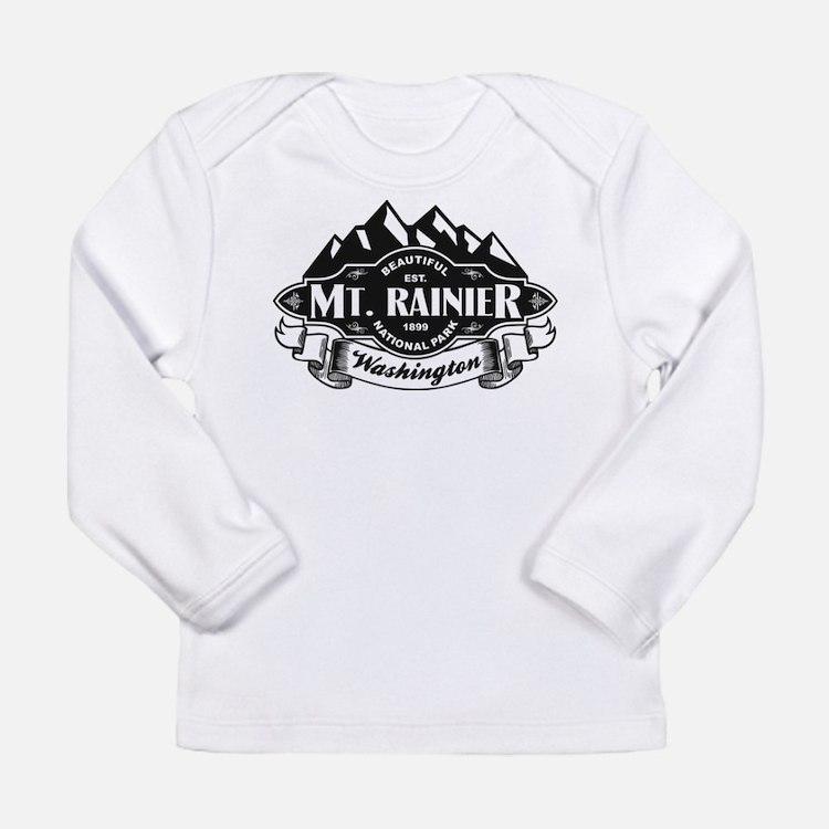 Mt. Rainier Mountain Emblem Long Sleeve Infant T-S
