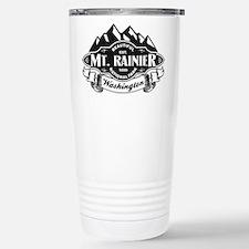 Mt. Rainier Mountain Emblem Stainless Steel Travel