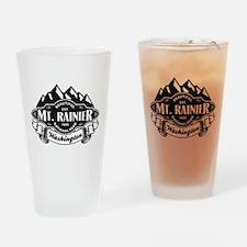 Mt. Rainier Mountain Emblem Drinking Glass