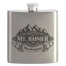 Mt. Rainier Mountain Emblem Flask
