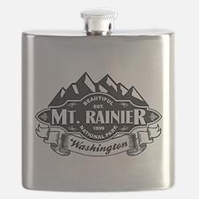 Mt. Rainier Mountain Emblem Flask