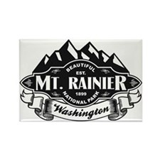 Mt. Rainier Mountain Emblem Rectangle Magnet
