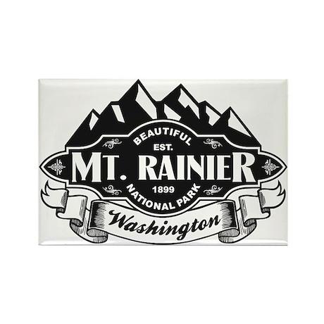 Mt. Rainier Mountain Emblem Rectangle Magnet