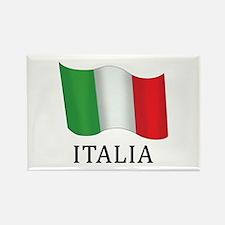 Italia Flag Rectangle Magnet (10 pack)