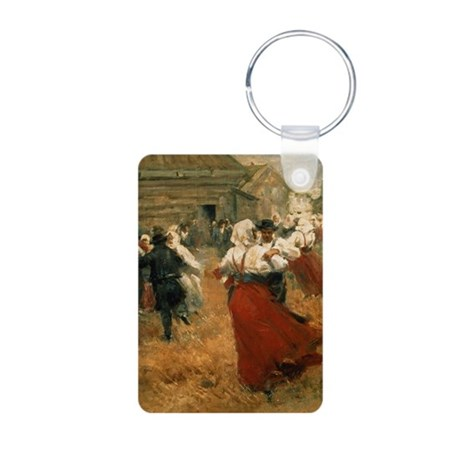 @oil on canvasA - Aluminum Photo Keychain