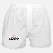 Abortion/Adoption Boxer Shorts