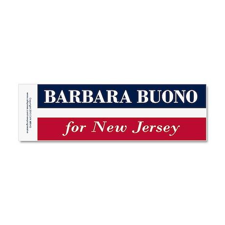 Barbara Buono for NJ Car Magnet 10 x 3