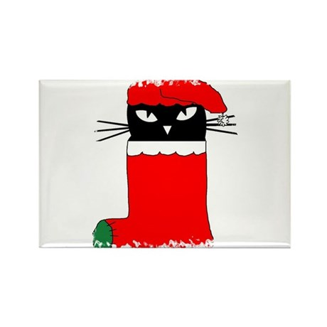 CHRISTMAS KITTY Rectangle Magnet (10 pack)