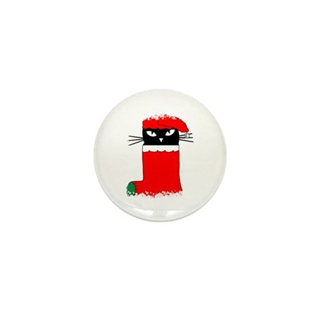 CHRISTMAS KITTY Mini Button