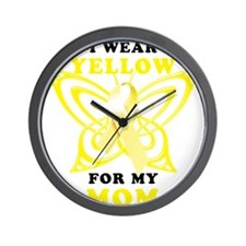 I Wear Yellow For My Mom Wall Clock