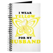I Wear Yellow For My Husband Journal
