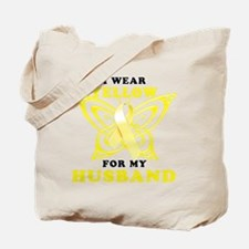 I Wear Yellow For My Husband Tote Bag