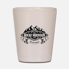 Rocky Mountain Mountain Emblem Shot Glass