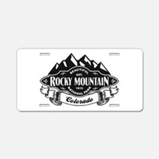 Rocky Mountain Mountain Emblem Aluminum License Pl