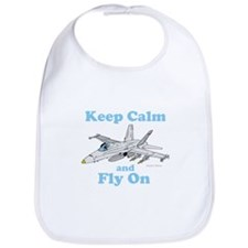 Keep Calm and Fly On Bib