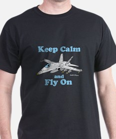 Keep Calm and Fly On T-Shirt