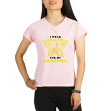 I Wear Yellow For My Grandma Peformance Dry T-Shir