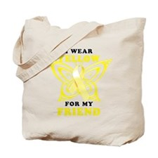 I Wear Yellow For My Friend Tote Bag