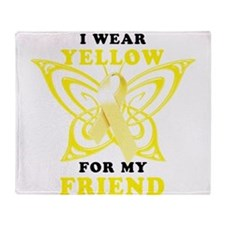 I Wear Yellow For My Friend Throw Blanket