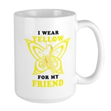 I Wear Yellow For My Friend Mug