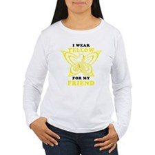 I Wear Yellow For My Friend Long Sleeve T-Shirt